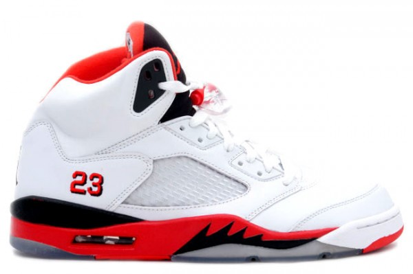 Air Jordan Retro V (5) 'Fire Red' - First Look