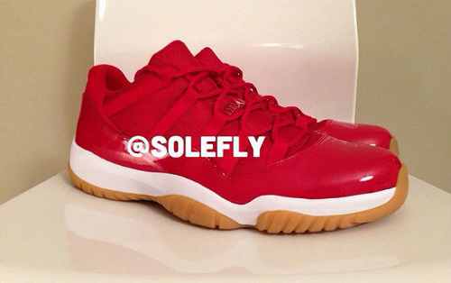 > Air Jordan XI (11) Low �Red/Gum� Sample - Photo posted in Kicks @ BX  (Sneakers & Clothing) | Sign in and leave a comment below!