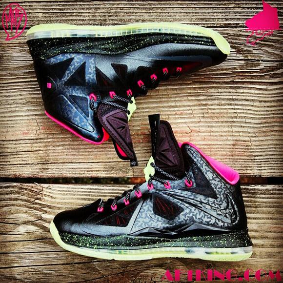 Custom Blink Yeezy Nike LeBron 10 Homme Project by GourmetKickz