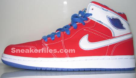 best service 81ade 50b83 Air Jordan Retro 1 White-Red-Blue Mid   SneakerFiles