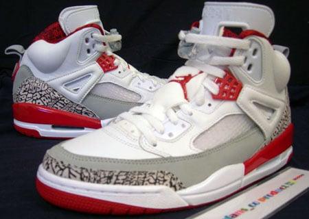 Air Jordan Spizike White/Grey Fire Red