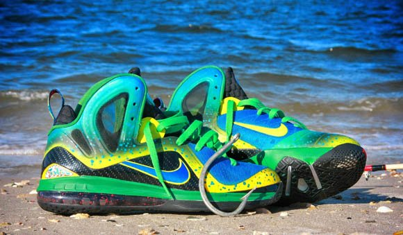 Mahi Mahi Nike LeBron 9 Elite by Twizz Customs