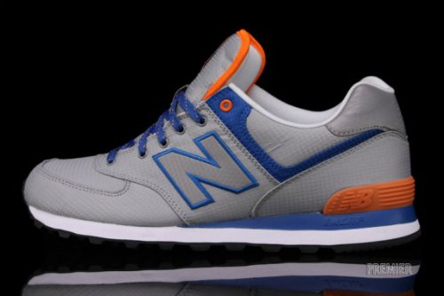 ed122268e4778 New Balance 574 'Windbreaker Pack' - Grey/Royal Blue-Orange ...