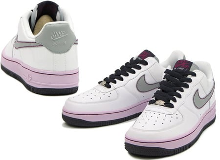 Nike Air Force 1 Womens White Silver Doll Cave Purple