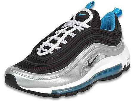 01d612b96bc Nike Air Max 97 White Black Vivid Blue Silver 50%OFF - s132716079 ...