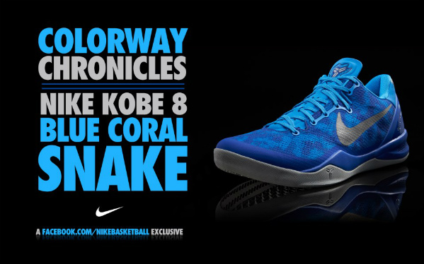 outlet store e8ad1 c9348 Release Reminder  Nike Kobe VIII (8) System Hornets Blue Glow Strata Grey