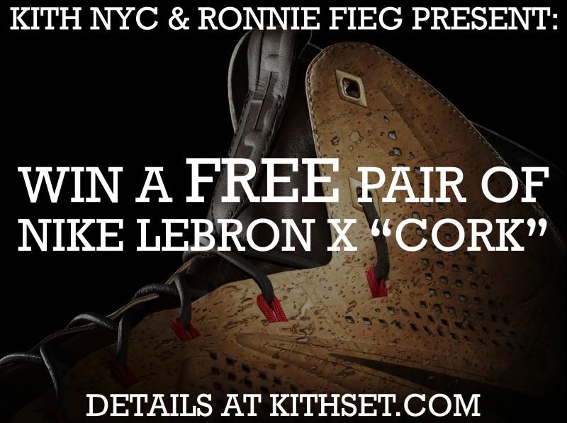 Win a Free Pair of Nike Lebron X (10) Cork - Ronnie Fieg x Kith NYC