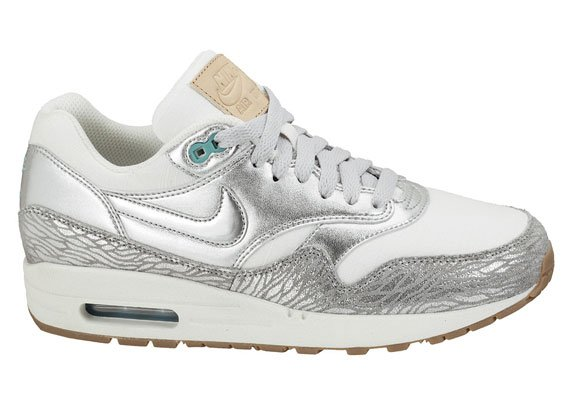 Womens Nike Air Max 1 PRM - Metallic