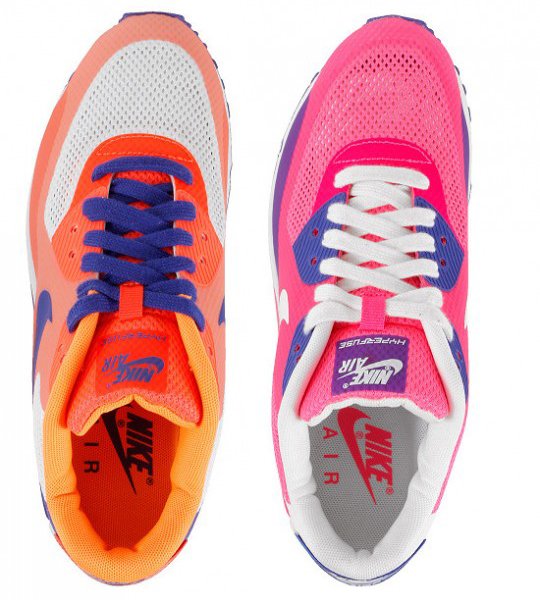 sports shoes 1c0ea 2090d Womens Nike Air Max 90 Hyperfuses - Two New Color Schemes