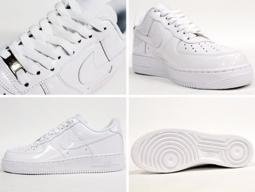 nike air force 1 white patent leather