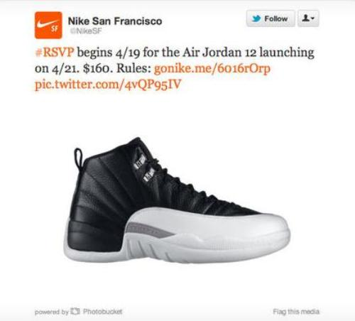New Nike Twitter RSVP system