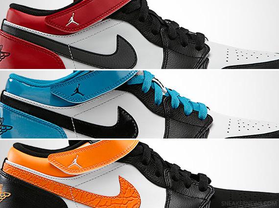 Air Jordan 1 Strap Low May 2013 Colorways