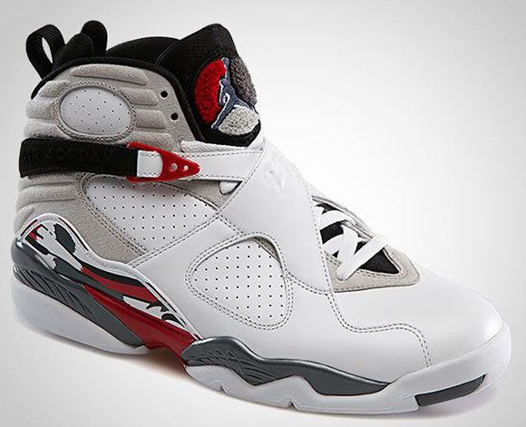 Air Jordan 8 Retro Bugs Bunny White/Flint Grey/True Red Official Photos