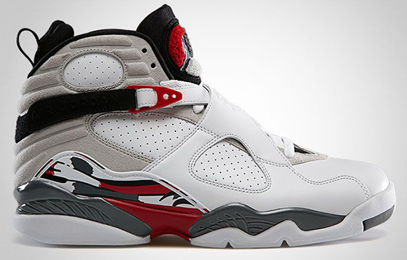 Air Jordan 8 Retro White Flint Grey True Red Official Photos