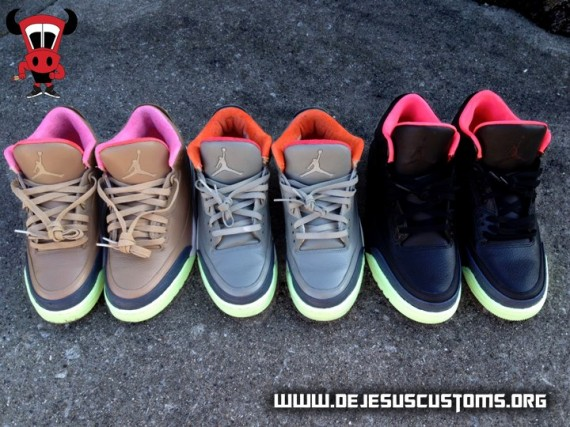 Air Jordan III Threezy Pack by DeJesus Customs