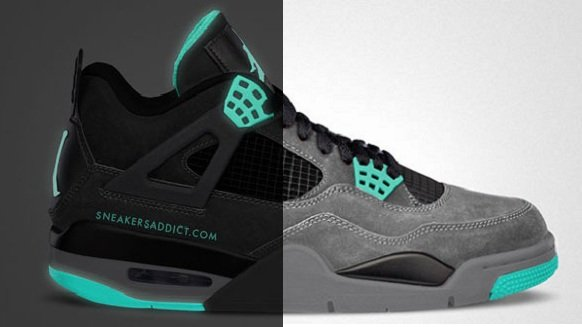 Air Jordan IV (4) 'Green Glow' - New Images
