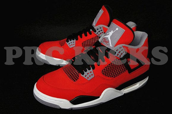 Air Jordan 4 (IV) Suede Fire Red 2013 Retro
