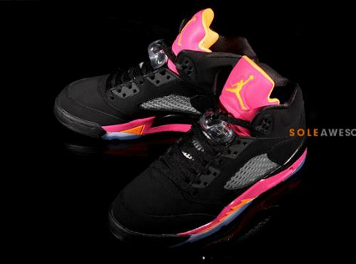 air-jordan-v-5-gs-black-bright-citrus-fusion-pink-new-images-1