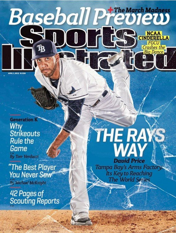 David Price in Air Jordan XI Concord on Sports Illustrated Cover