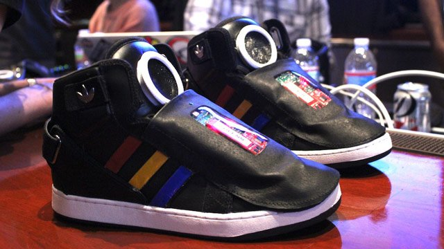 google talking sneakers