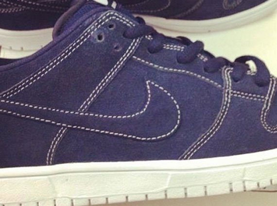 Navy White Stitching Nike SB Dunk Low