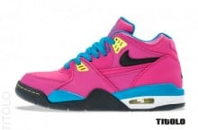 Nike Air Flight '89 'Fusion Pink/Black-Electric Yellow'
