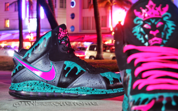 Nike Lebron 8.5 South Beach Custom by TwizzCustoms