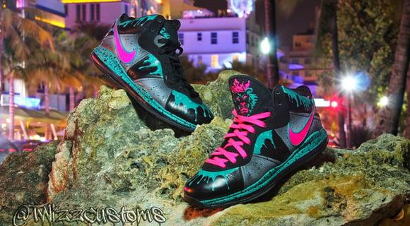 Nike Lebron 8.5 South Beach Custom by TwizzCustoms