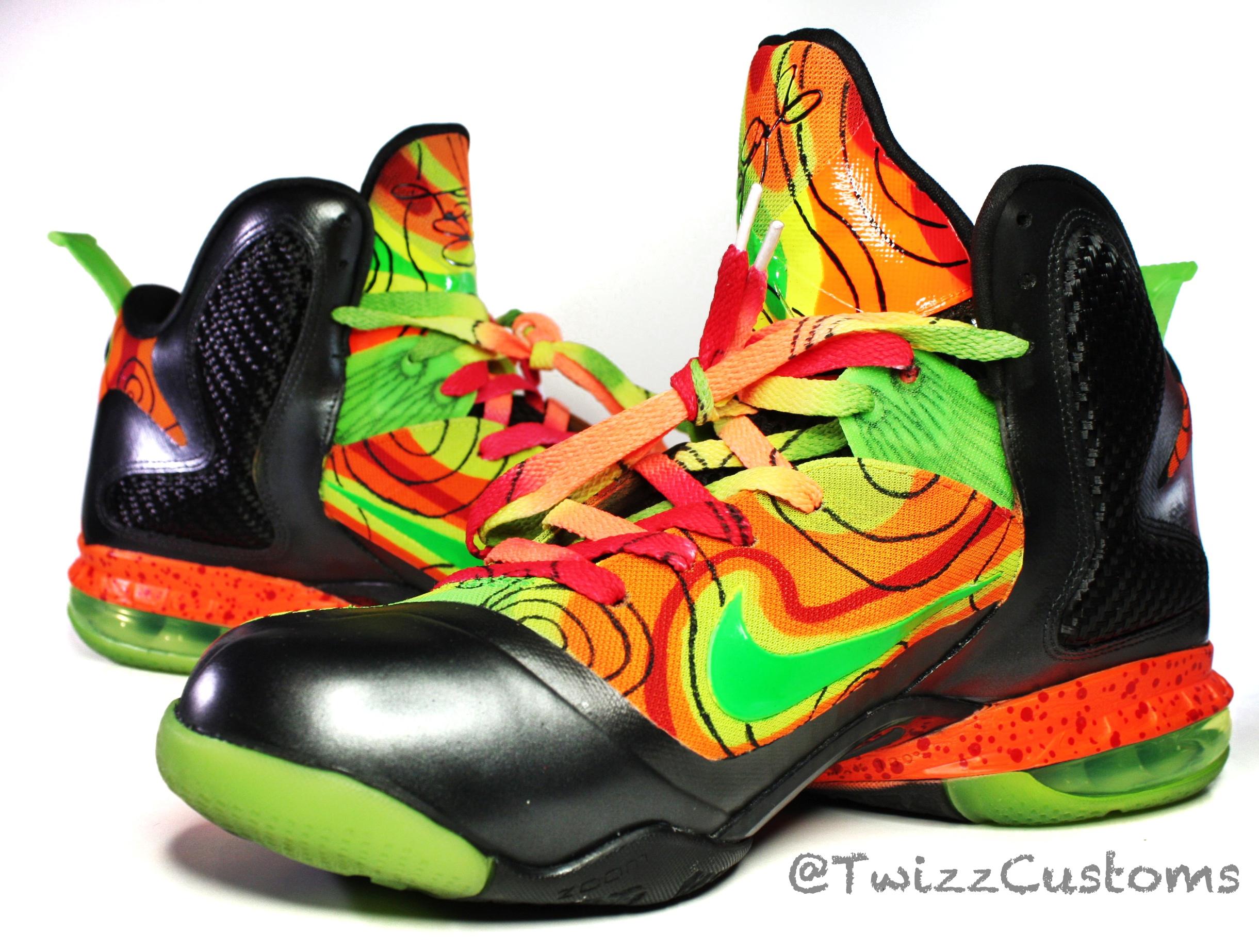 Nike LeBron 9 Weather 'Al Roker' Custom | SneakerFiles