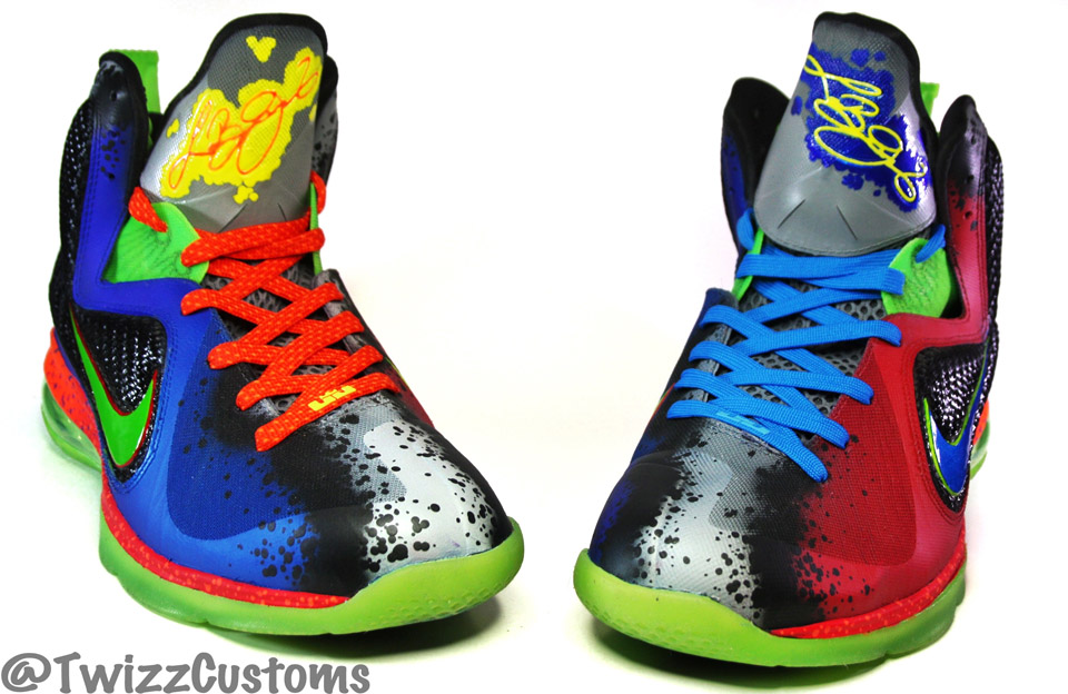 9c543baa1049 Nike LeBron 9  What the Nerf  Custom