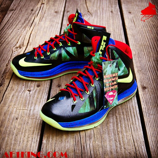 finest selection 4a224 0326d Nike LeBron X (10)  Man of Steel  by Gourmetkickz