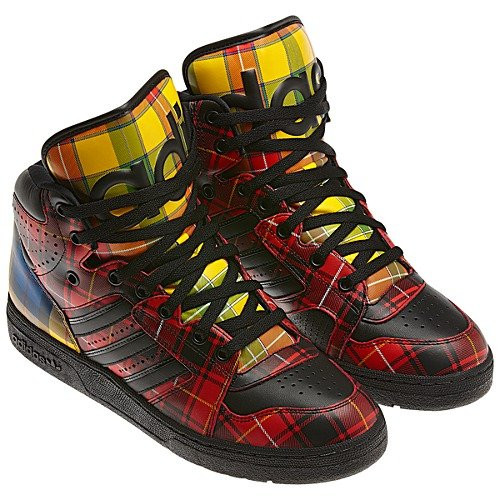 Now Available Jeremy Scott X adidas Instinct Hi Tartan