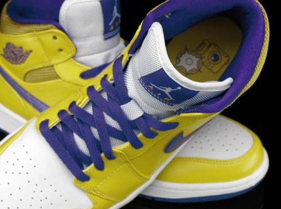 0c22af3ad0d82e Now Available   Lakers  Air Jordan 1 Mid