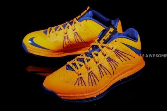 Orange Blue Nike LeBron X Low