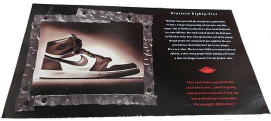 1994 Air Jordan 1 Retro Card