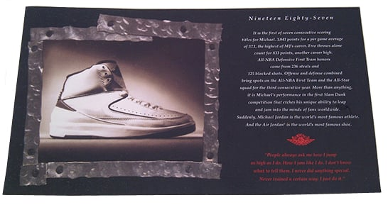 1994 Air Jordan 2 Retro Card