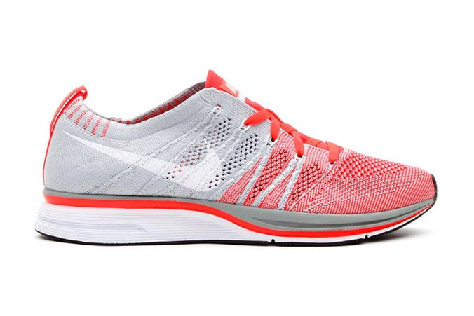Nike Flyknit Trainer+ Bright Crimson White