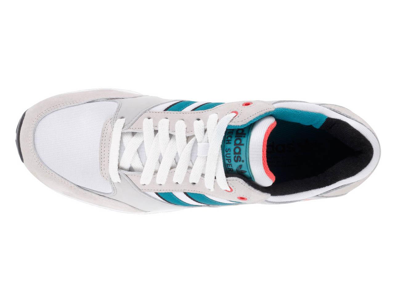 adidas Tech Super  Running White Teal-Red   5a53e6375