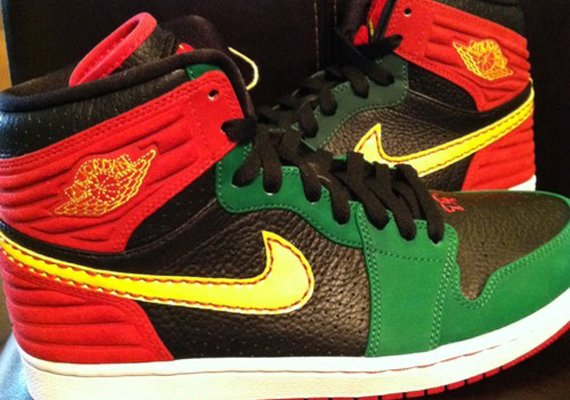 Air Jordan 1 Retro 93 Red Green Black Sample