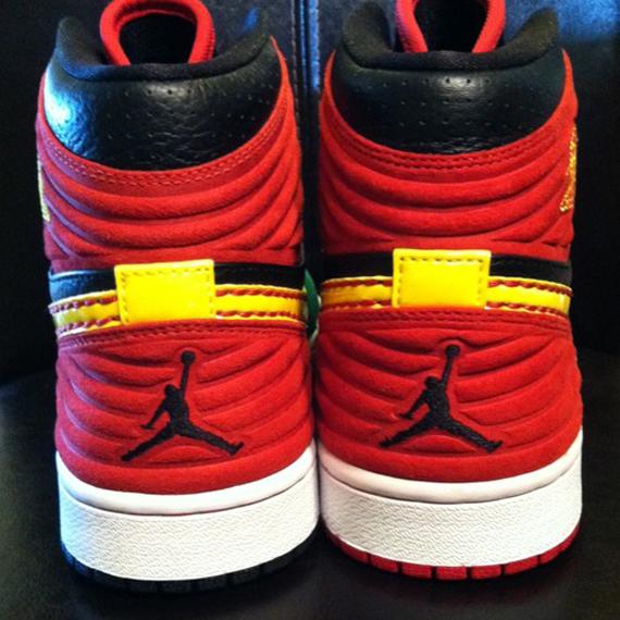 Air Jordan 1 Retro 93 Red Green Black Sample