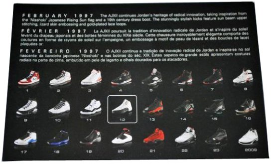 Air Jordan 12 Flu Game Retro Card Back