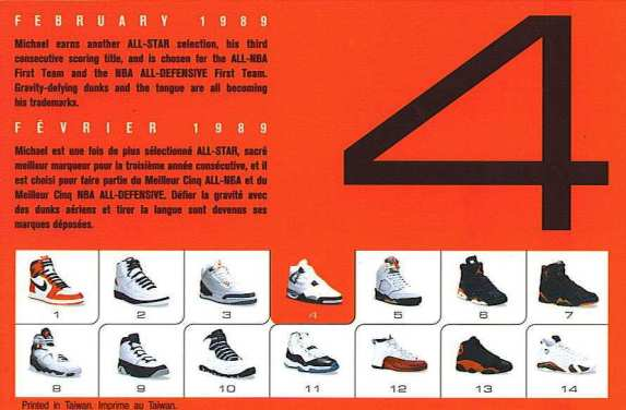 Air Jordan 4 Retro Card Back