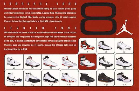 Air Jordan 8 Retro Card Back