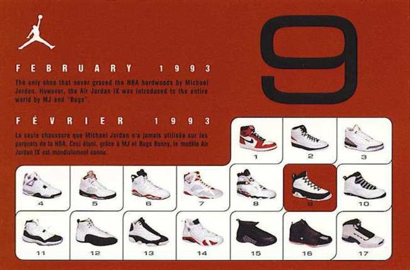 Air Jordan 9 Retro Card Back