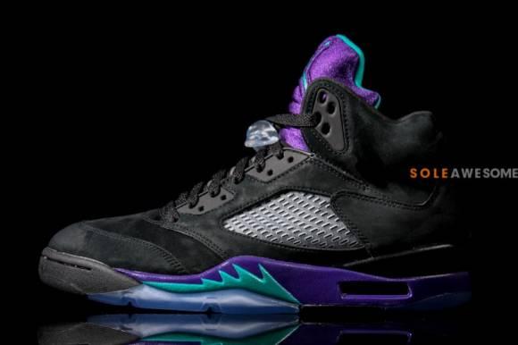 Air Jordan V 5 Black Grape Updated Images 2
