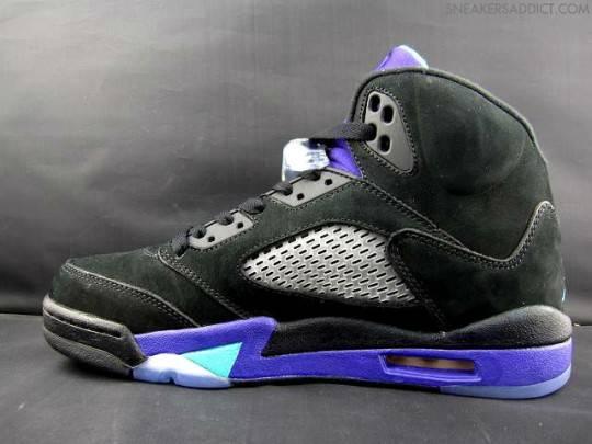 Air Jordan V 5 Black Grape Updated Images