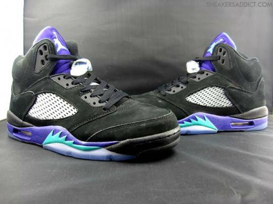 Air Jordan V 5 Black Grape Updated Images