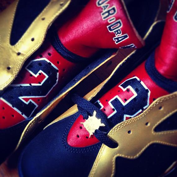Air Jordan VII 92 Champ Customs by El Cappy