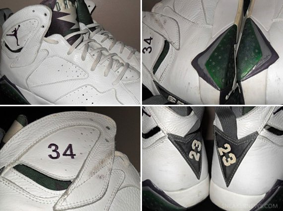 Air Jordan VII Ray Allen Milwaukee Bucks Home PE