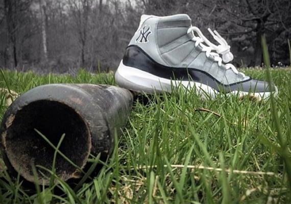 Air Jordan XI Yankees Customs by Mache